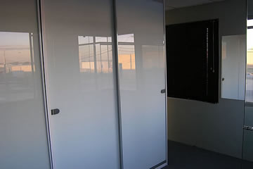 Sliding Opaque Glass - Frameless Doors